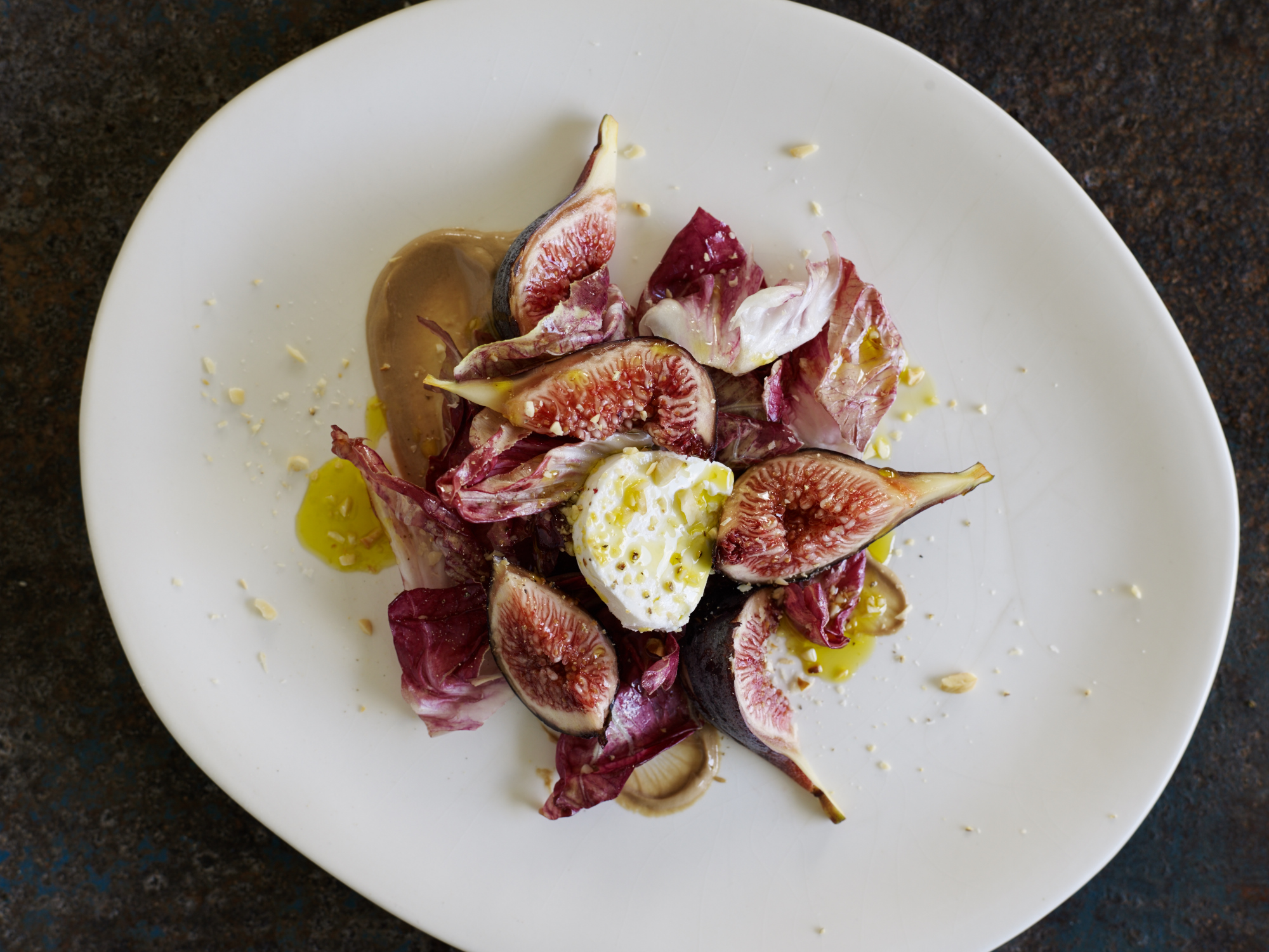 Fig & radicchio salad