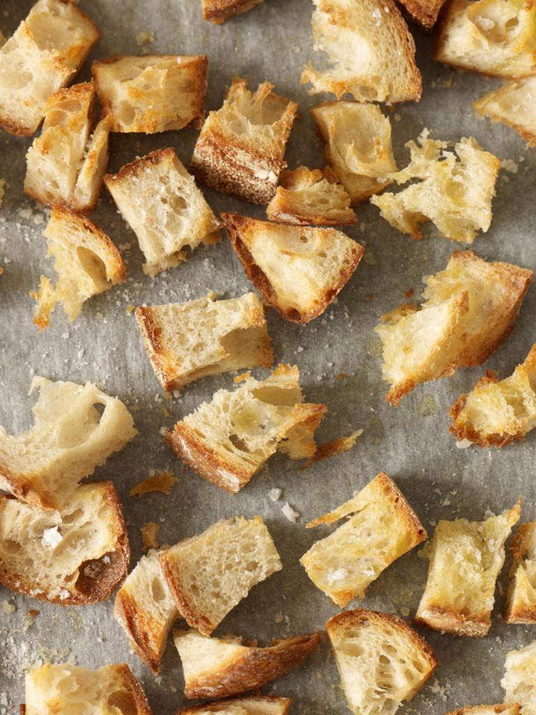 Baked ciabatta crusts