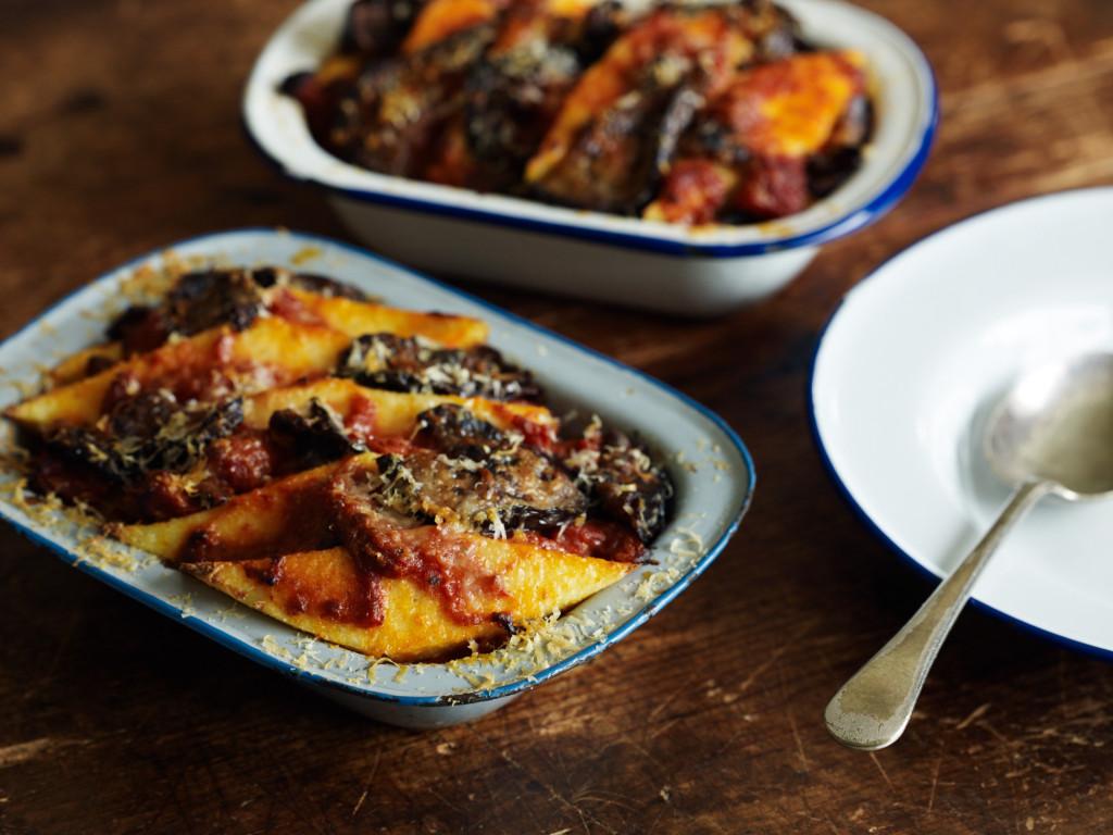 Polenta Pie with Eggplant