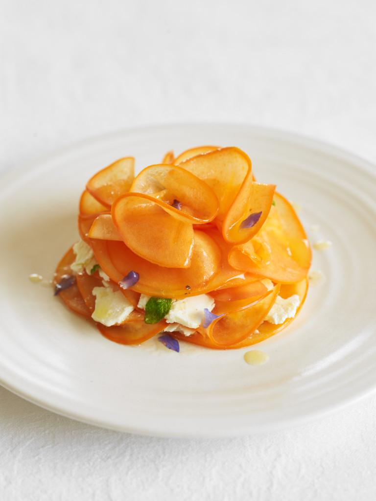 Persimmon & feta salad