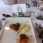 Seared scallops with cauliflower puree