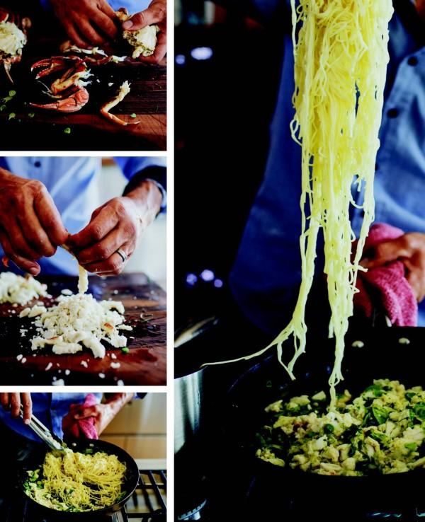 Paddle crab & capellini
