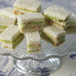 Hot-smoked salmon & cucumber sandwiches