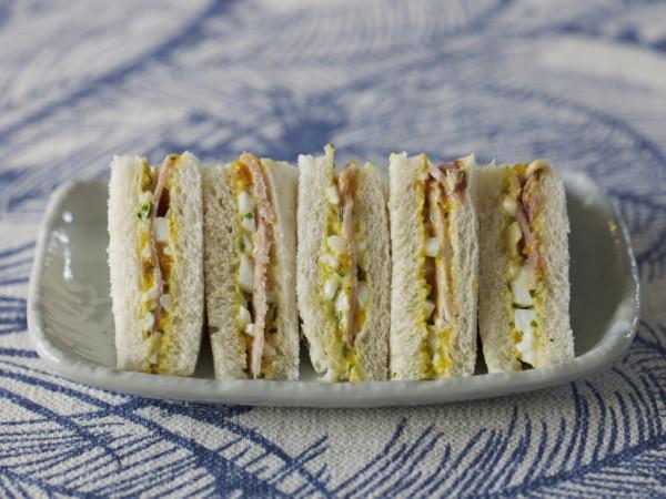 Ham & egg sandwiches