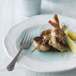 Prawns & scallops on skewers