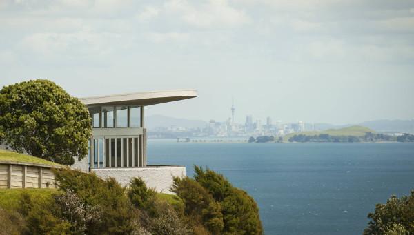 Te Whau restaurant looking towards Auckland city