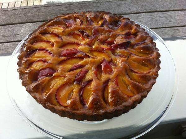 Nectarine & frangipane tart