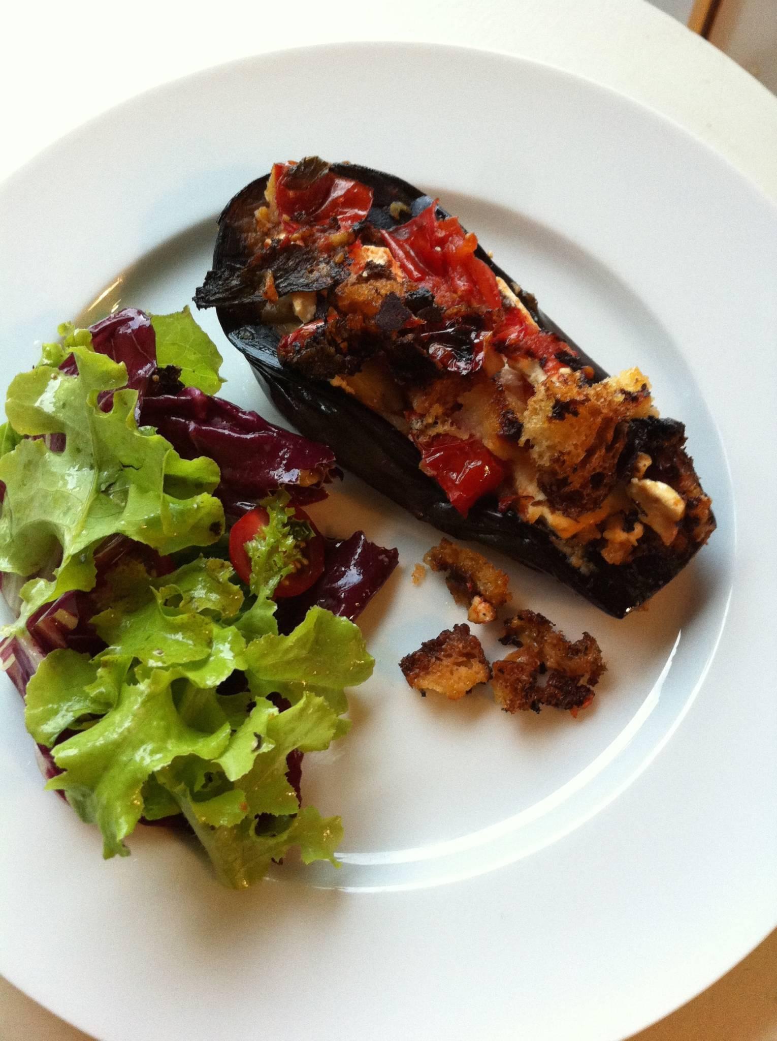 Eggplants with Feta & Honey