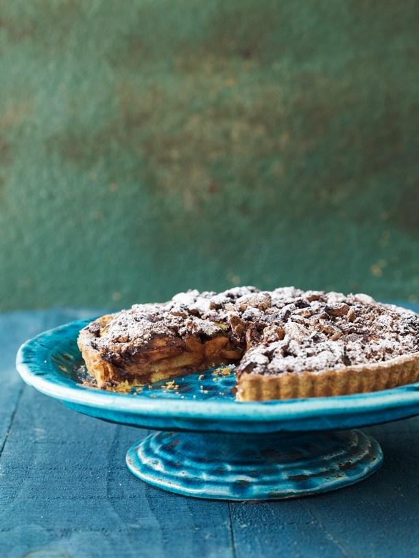 Peach & chocolate tart