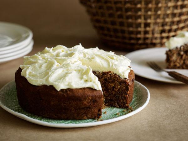 Coffee, walnut & date cake