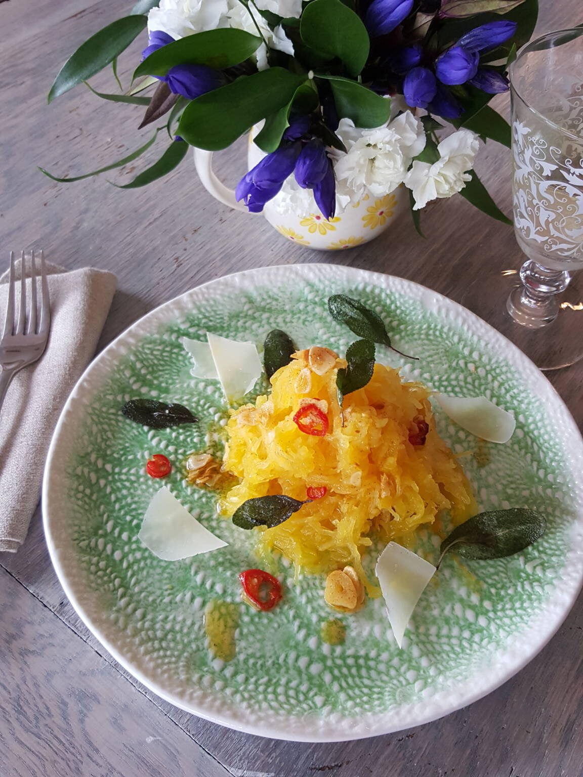 Spaghetti squash with dirty butter