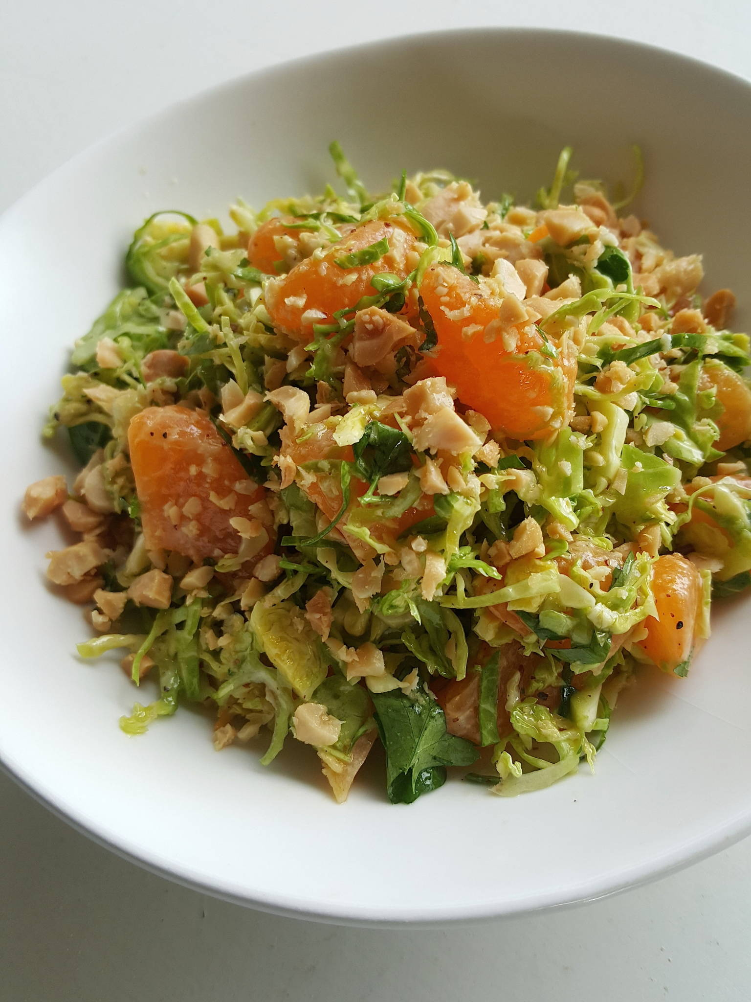 Brussels sprouts & mandarin salad