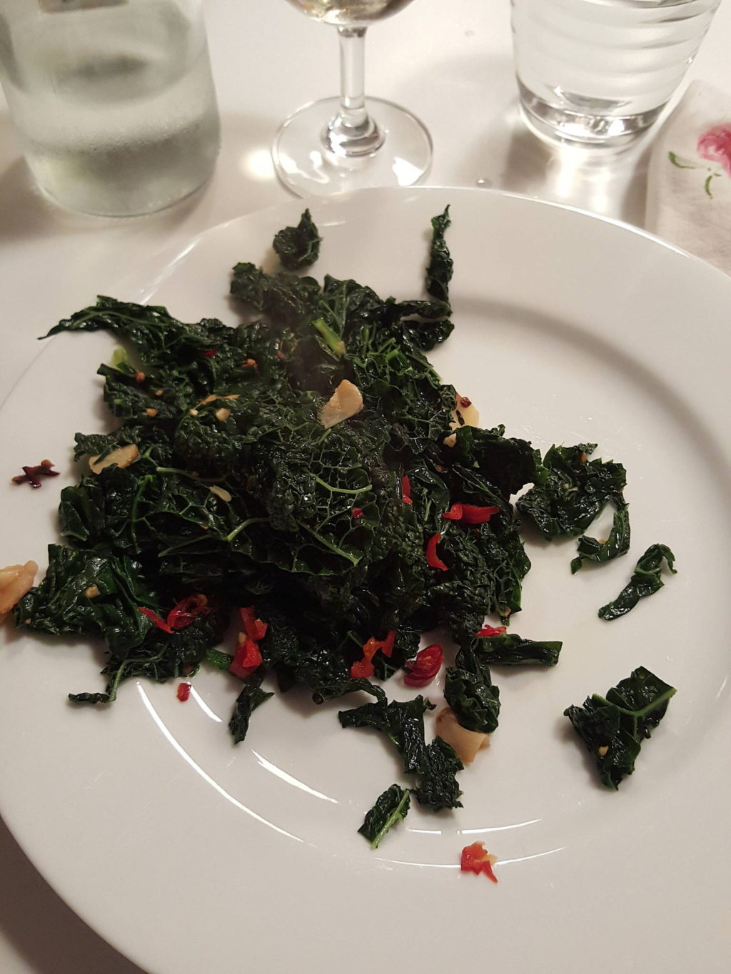 Cavolo nero on the plate