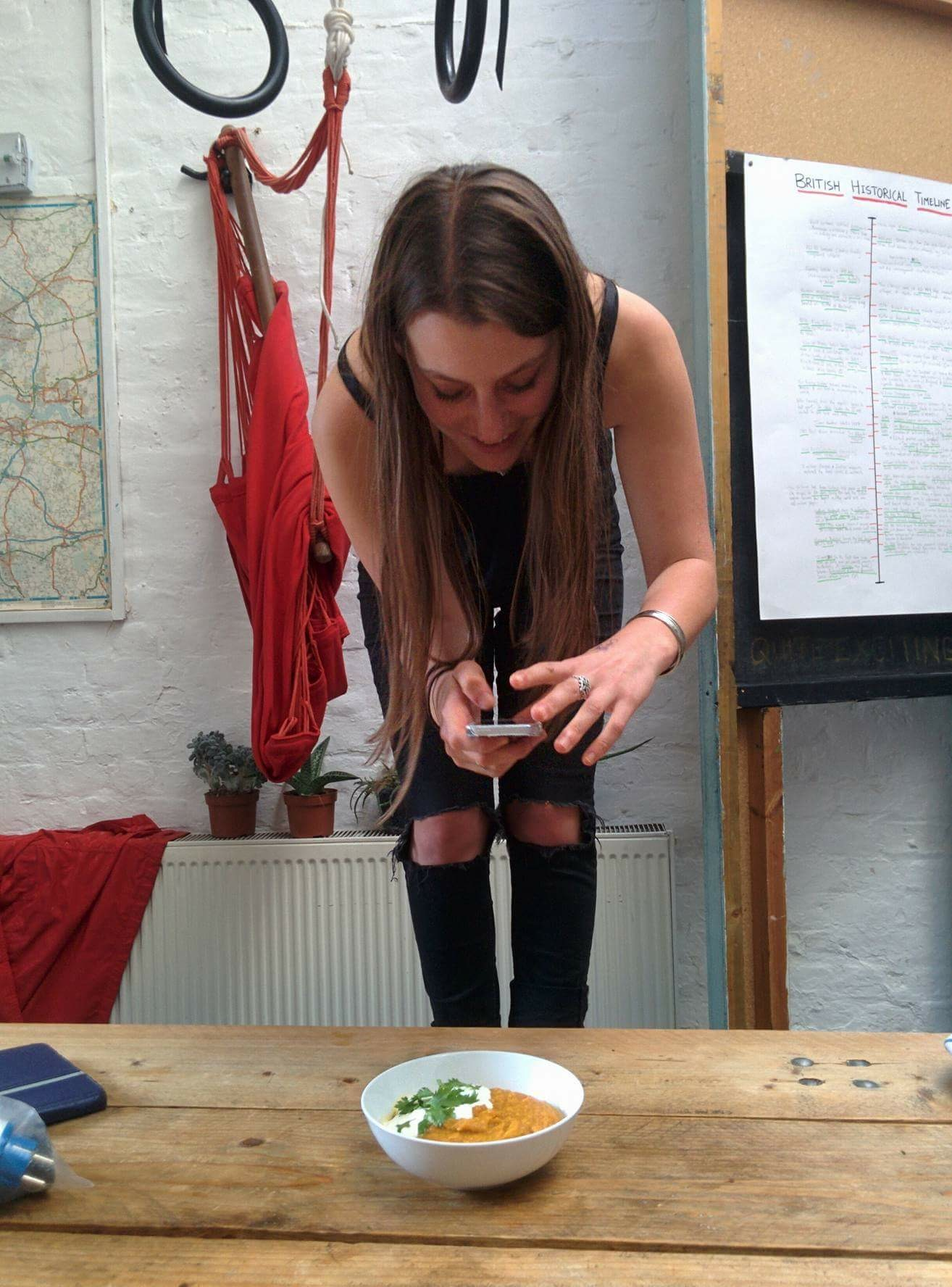 Ilaria shooting burnt orange soup