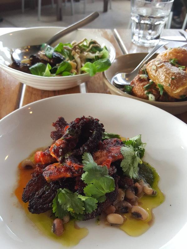 Octopus, free-range pork cheek,black-eyed peas