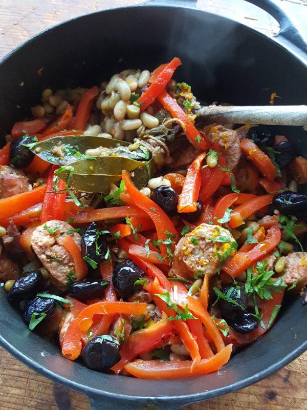 Bean & chorizo stew