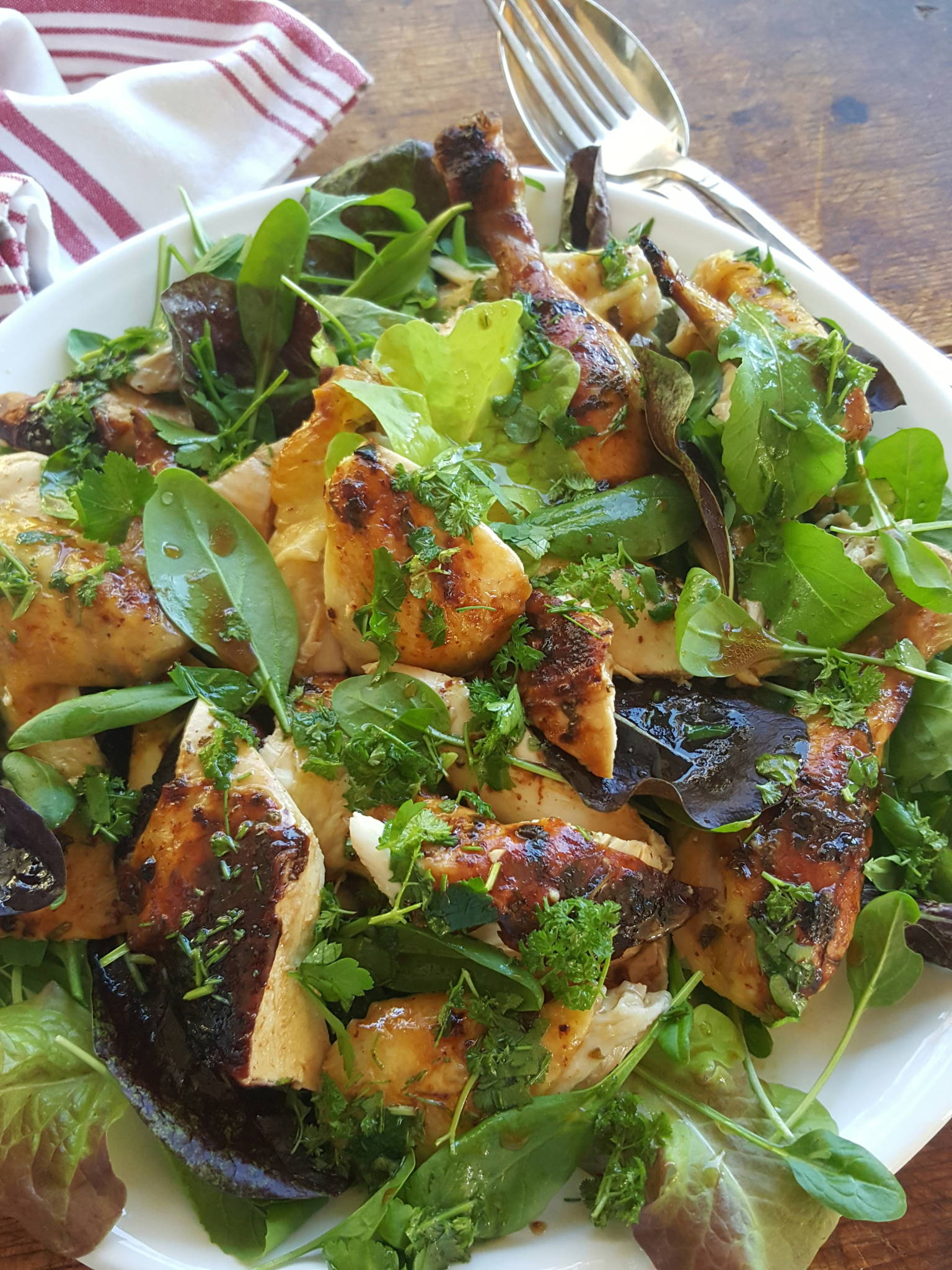 Chicken French Roast with salad