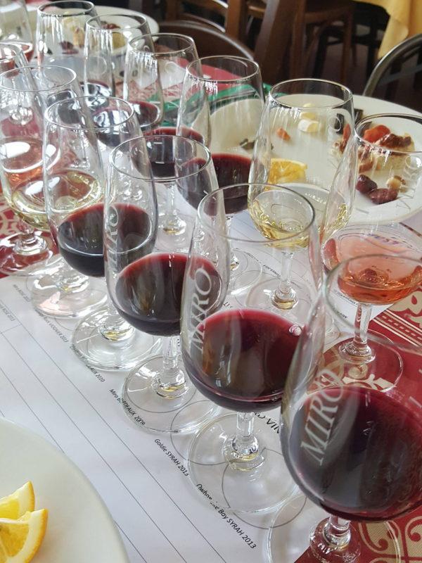 Line up of wines Casita Miro