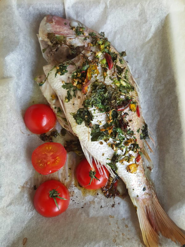 Snapper – cooked