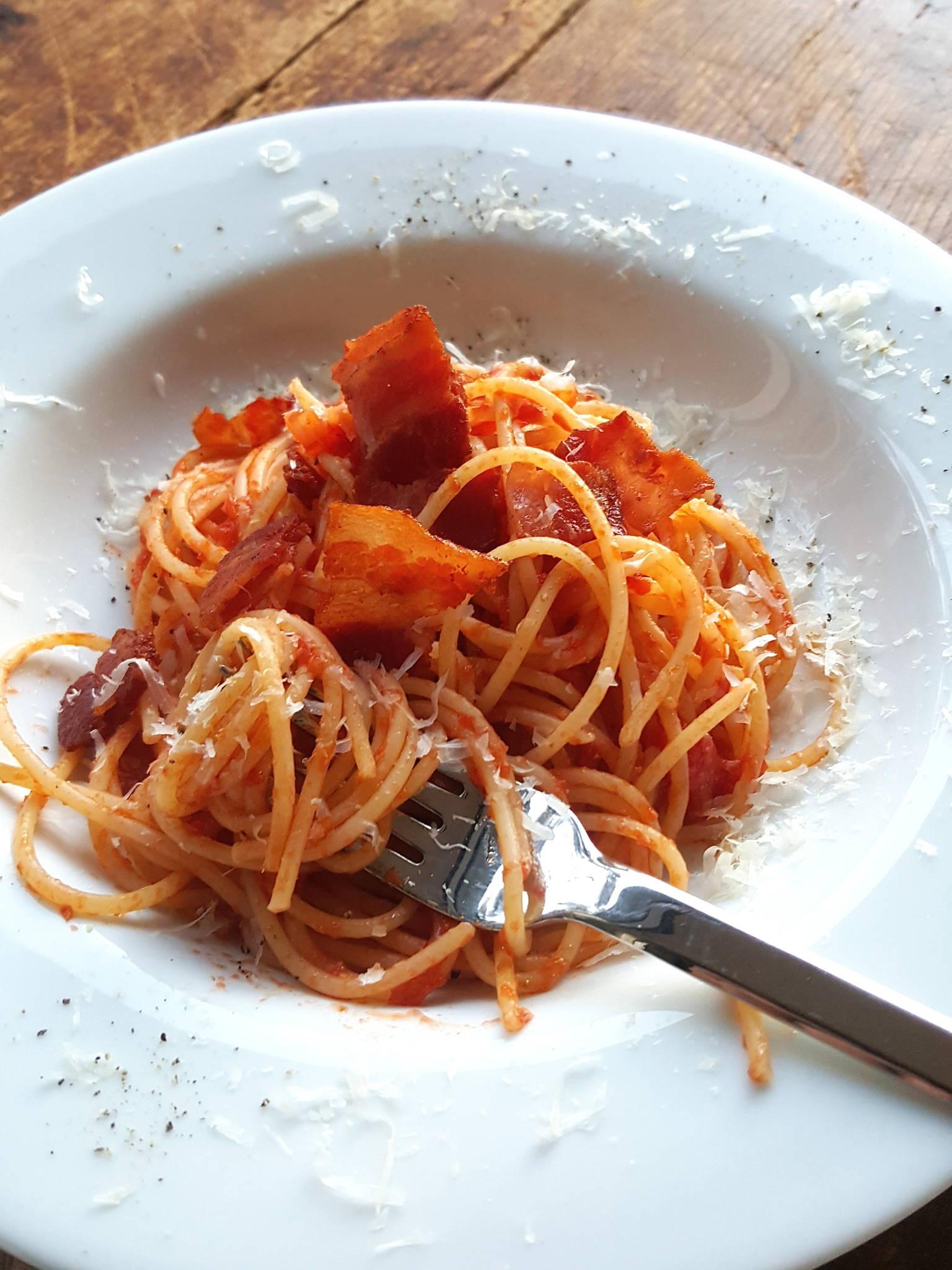 Spaghetti Amatriciana 1