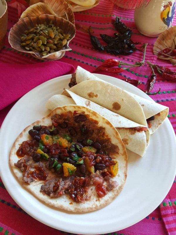 Black bean tortillas
