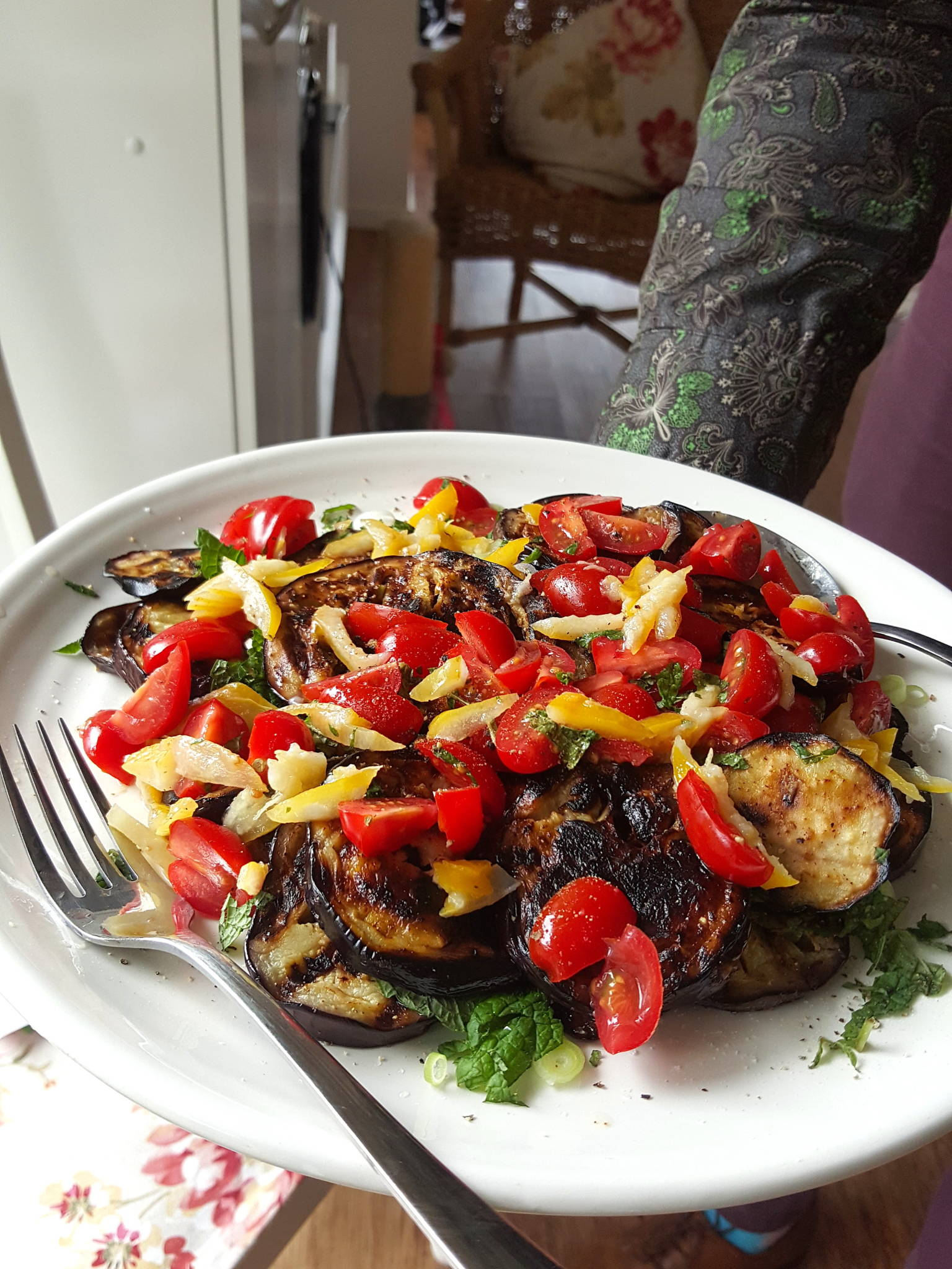 Eggplant & Preserved Lemon salad