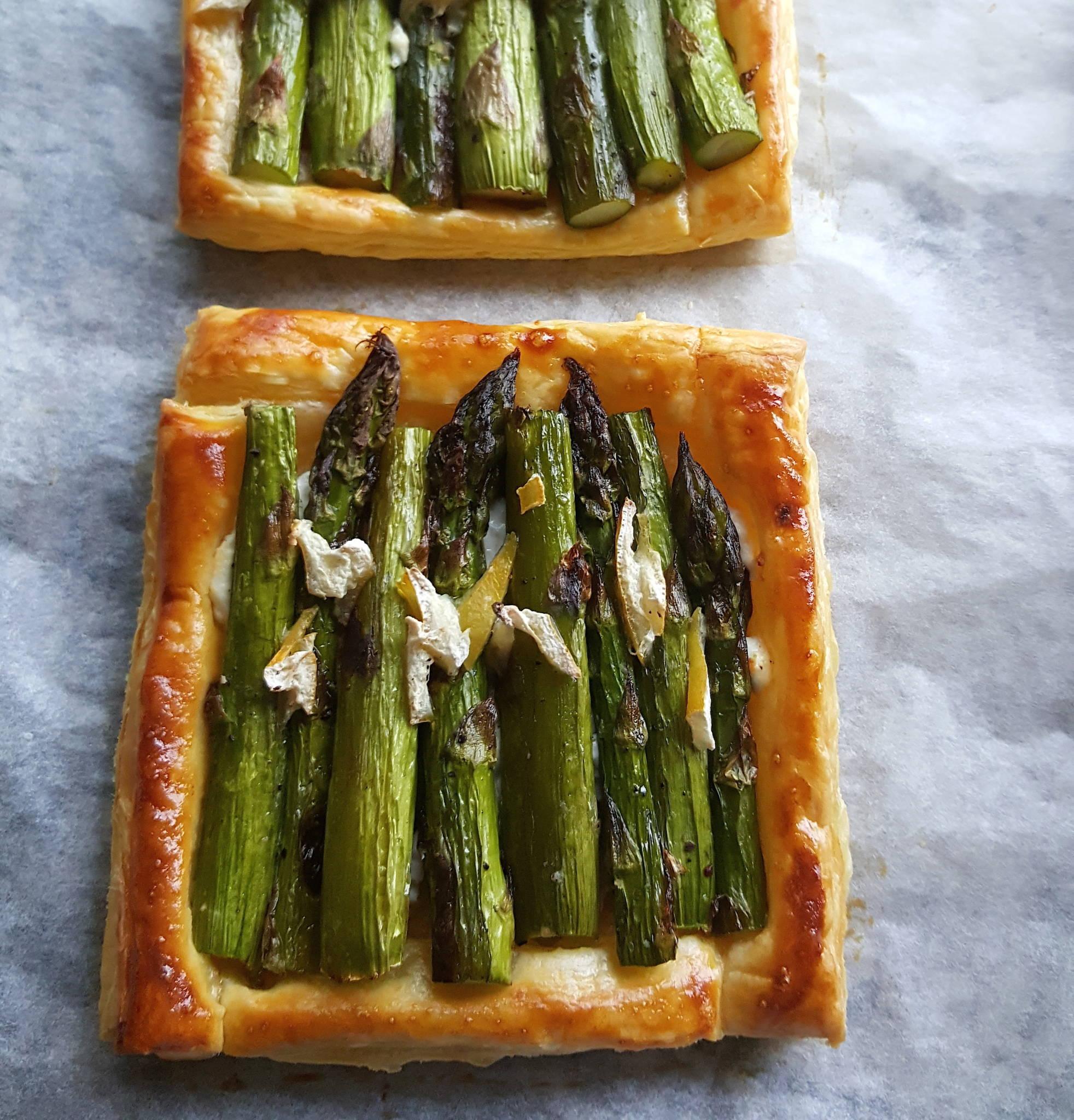asparagus tarts cooked cropped