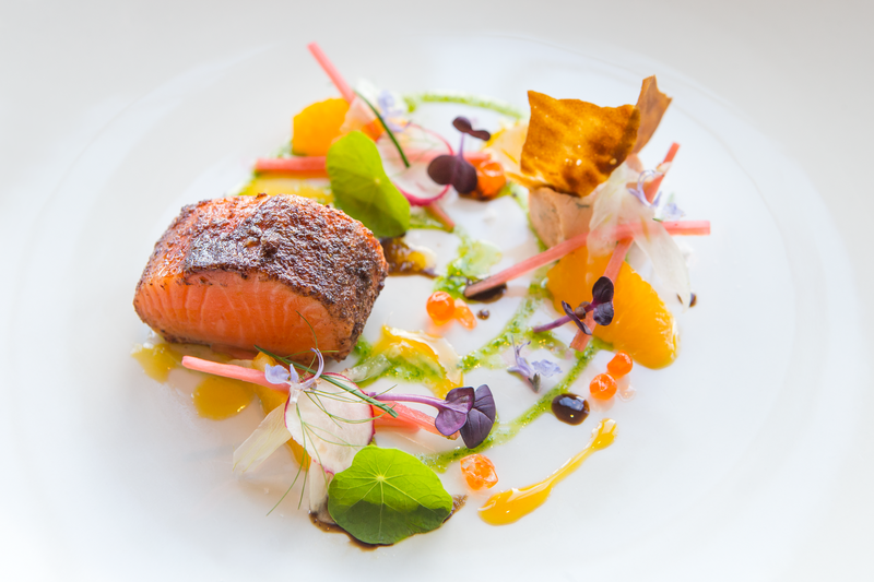 Winning Ora King salmon dish 2016