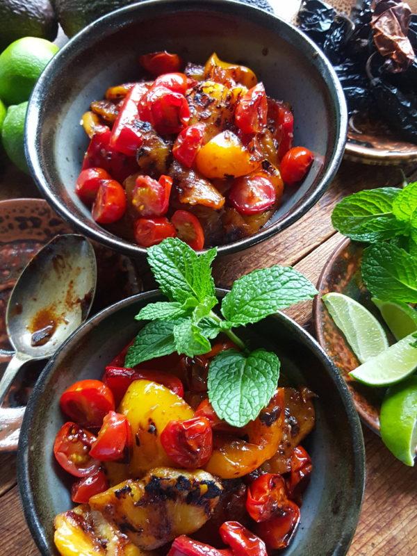 Pineapple pepper salad 1