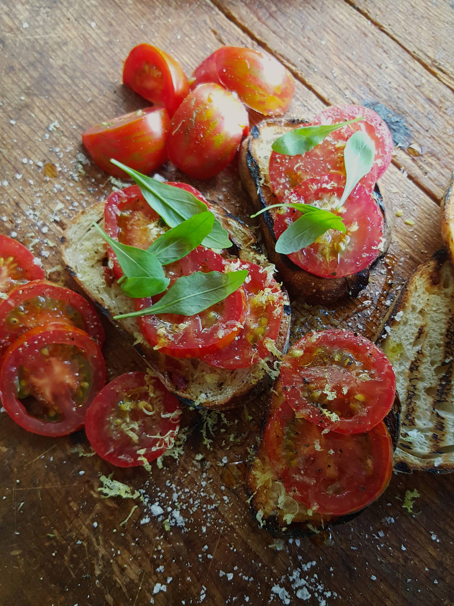 Tomatoes on sourdough