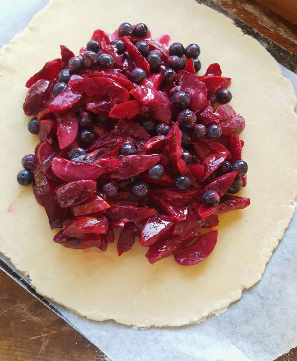 Plum & blueberry tart 4