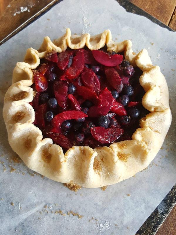 Plum & blueberry tart