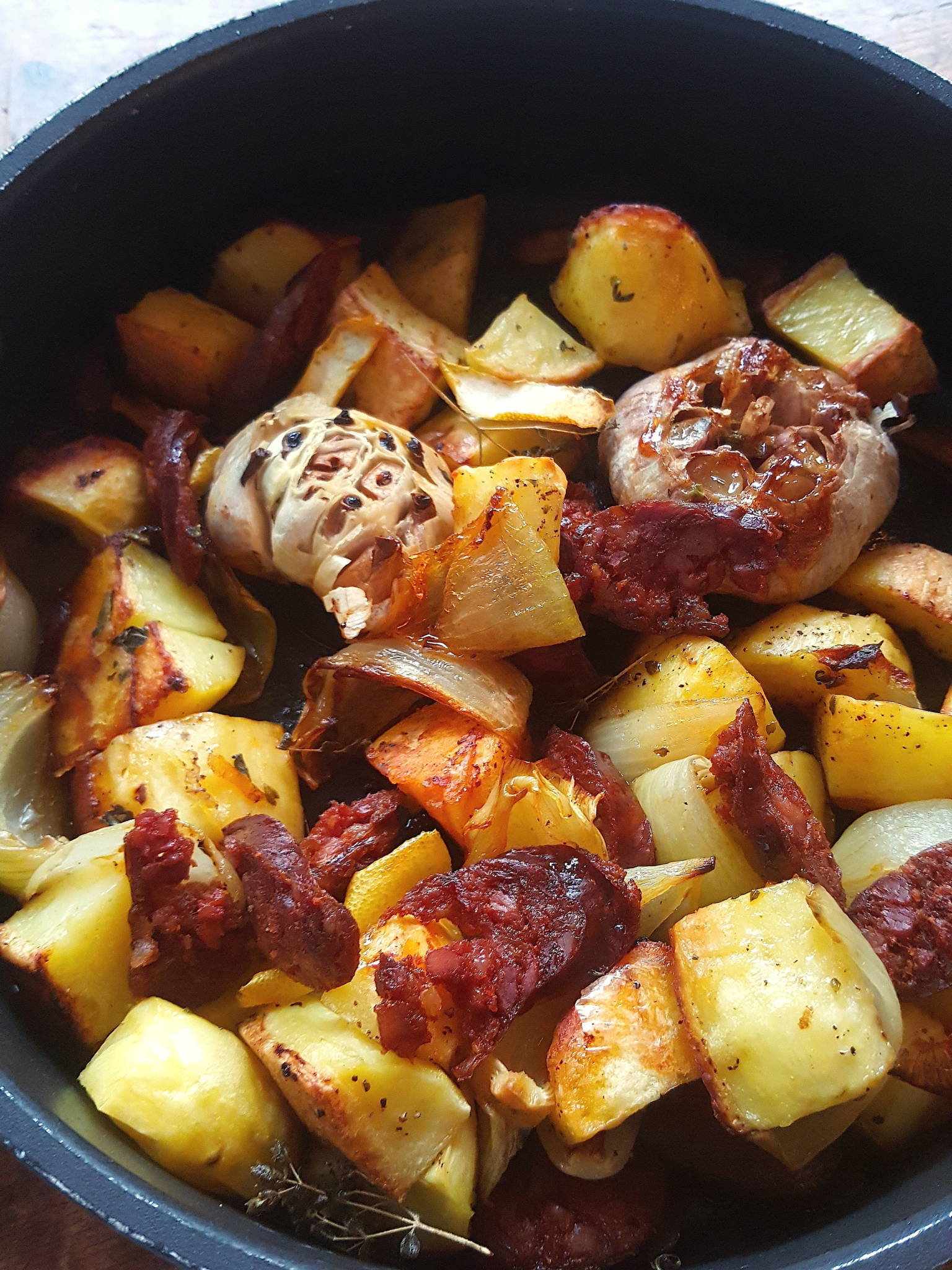 Roasted Potatoes & Chorizo