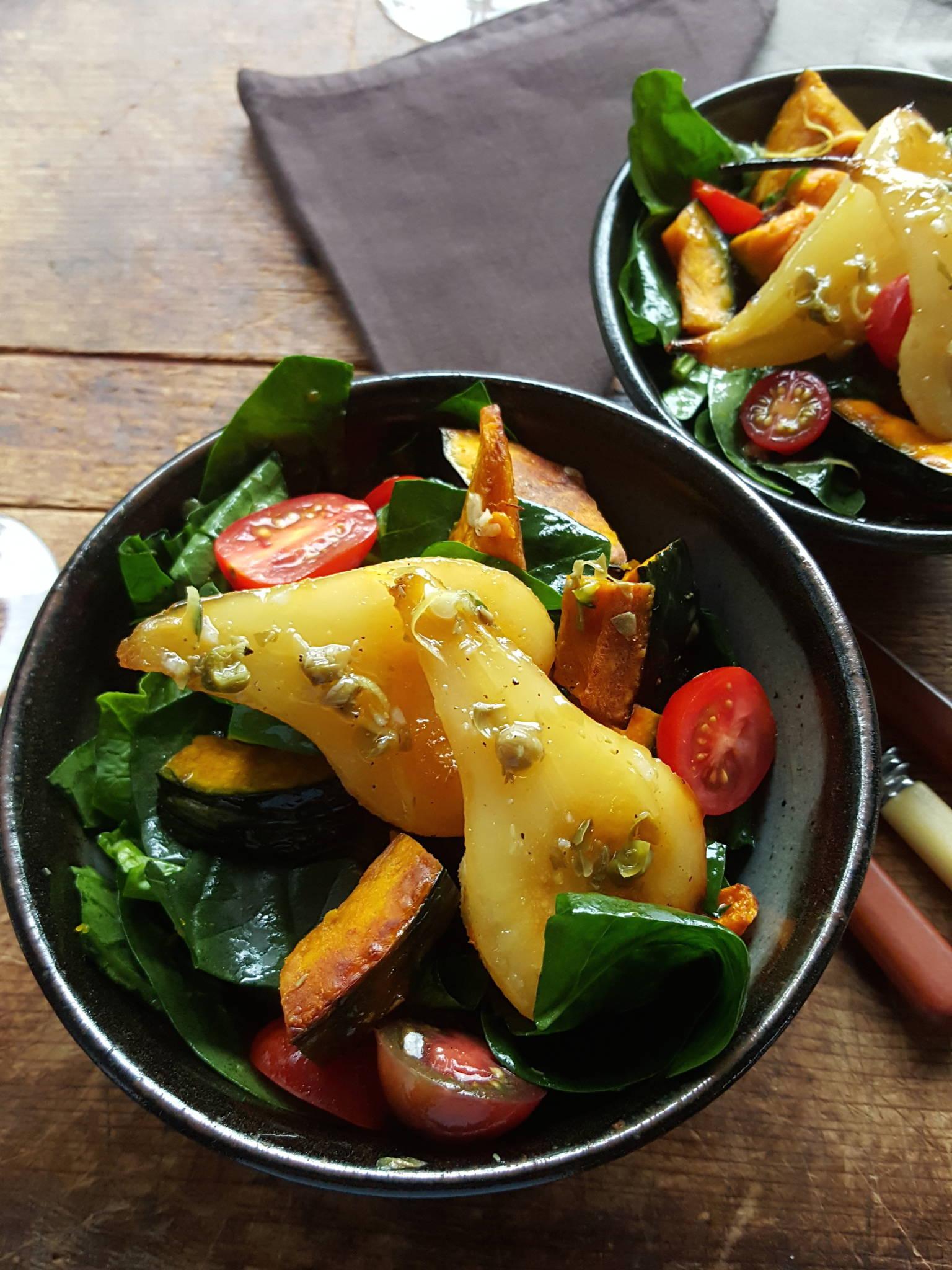 Spinach & pear salad 3