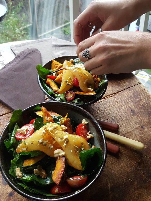 Spinach & pear salad 5
