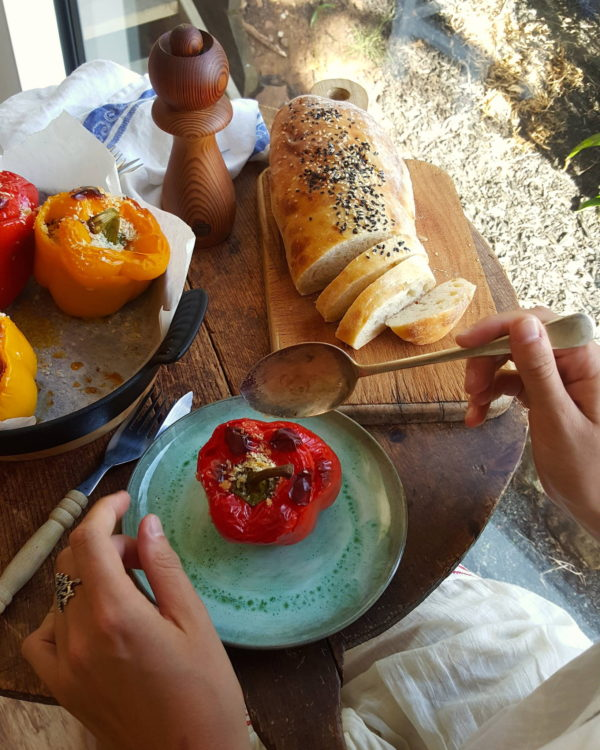 Stuffed peppers with freekeh 2