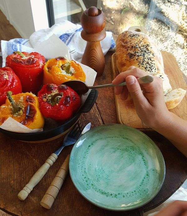 Stuffed peppers with freekeh 7