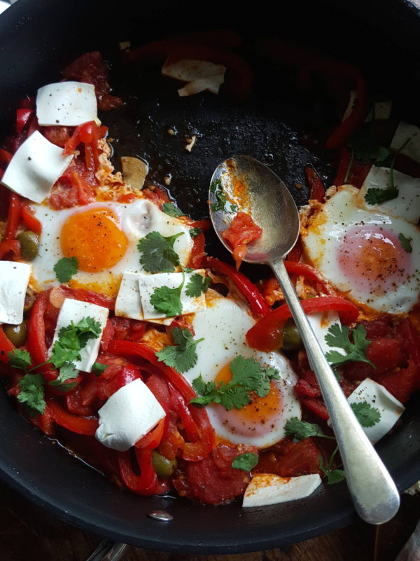 Tunisian eggs with extras 2
