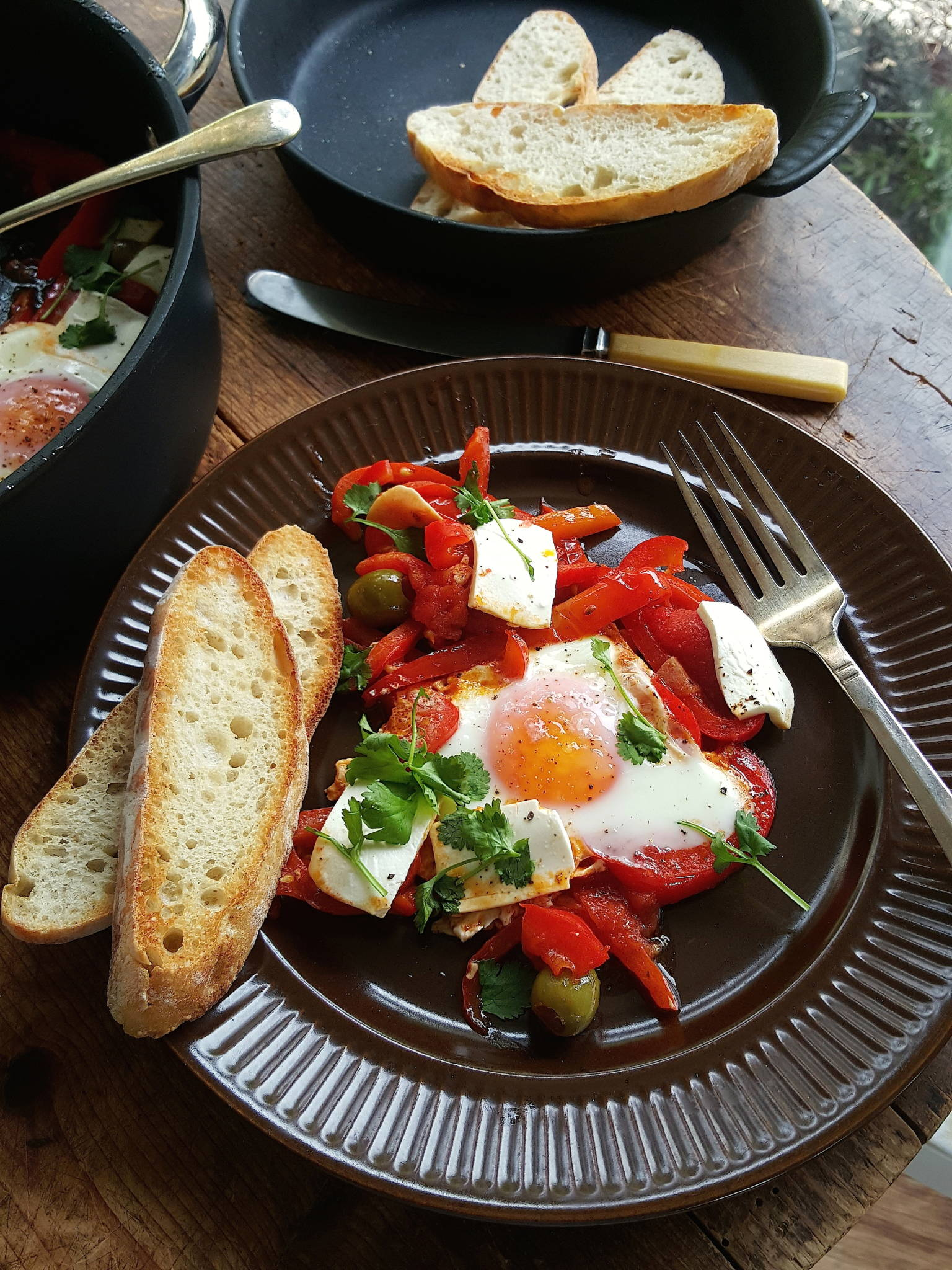 Tunisian eggs with extras