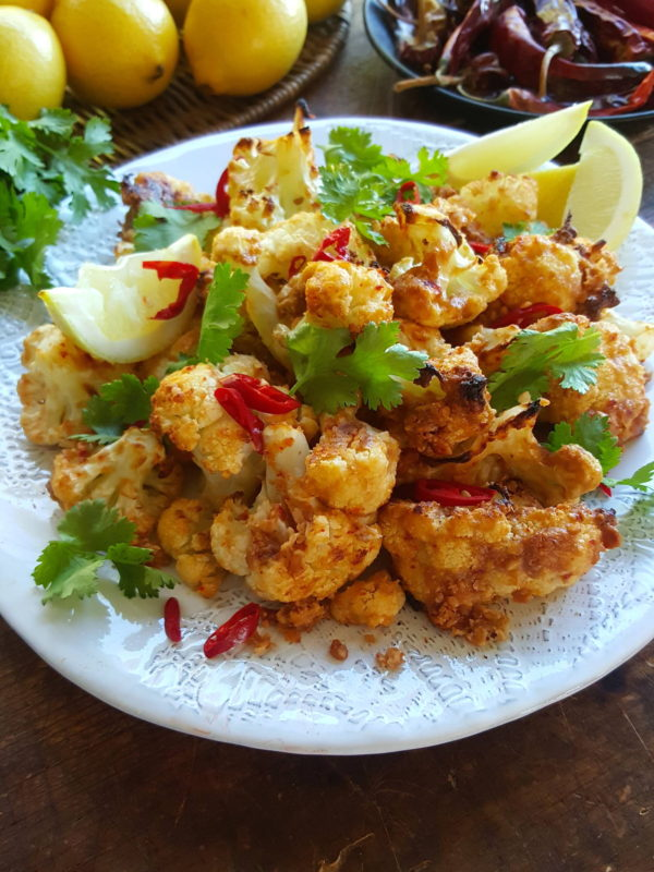 Cauliflower with Spicy Peanut Sauce