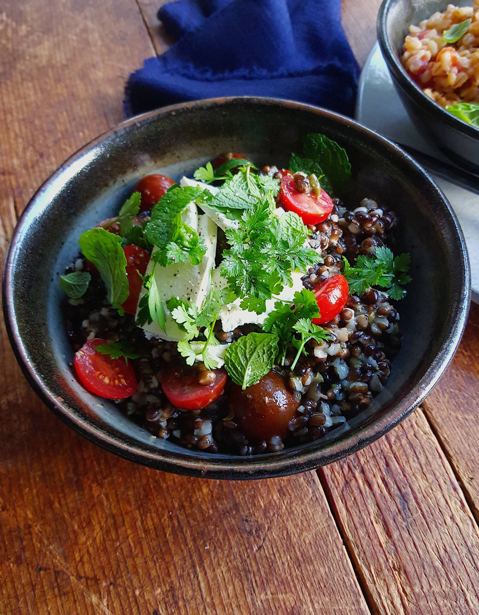 Black barley salad 4