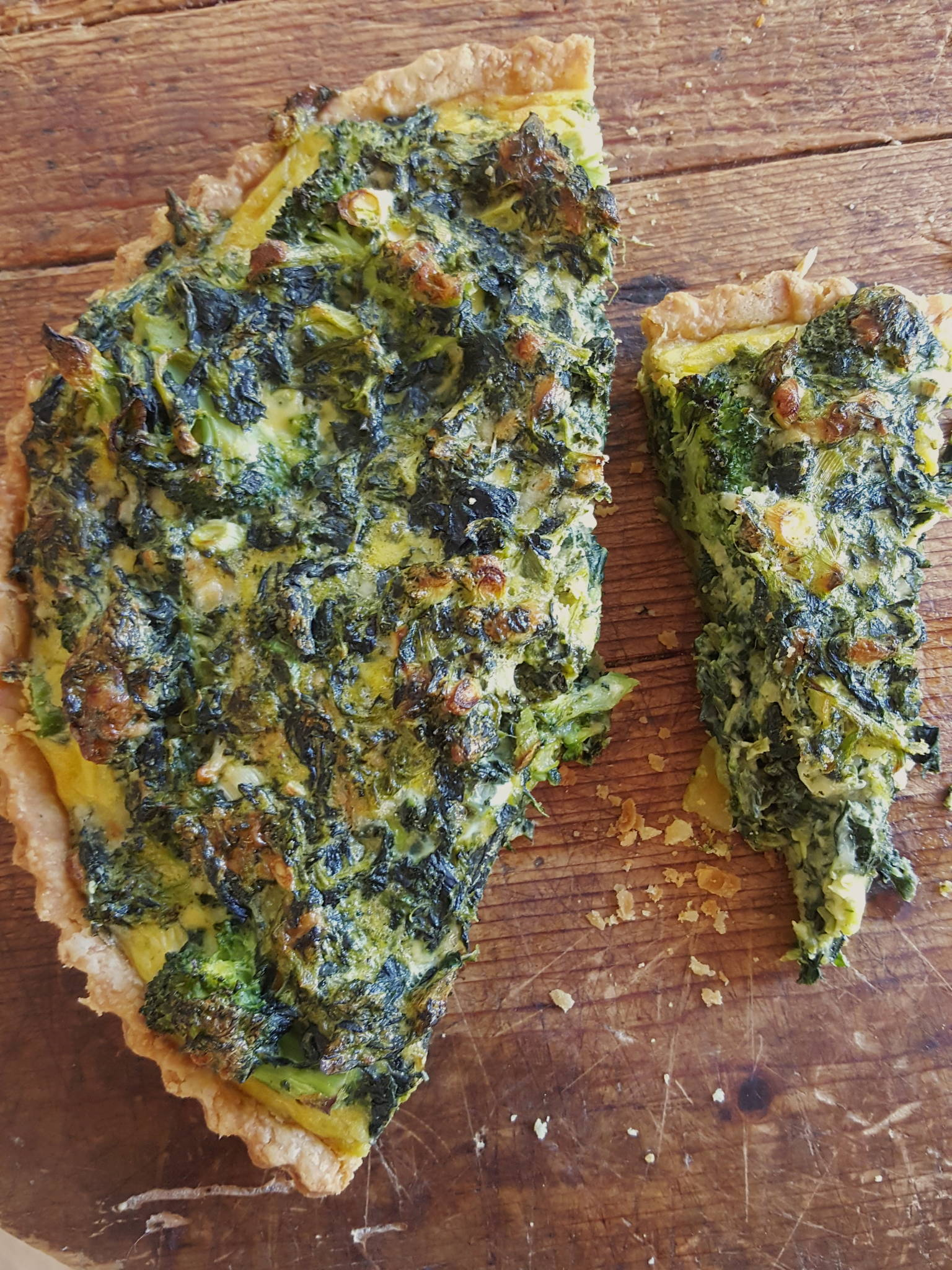 Broccoli & Spinach Quiche 3