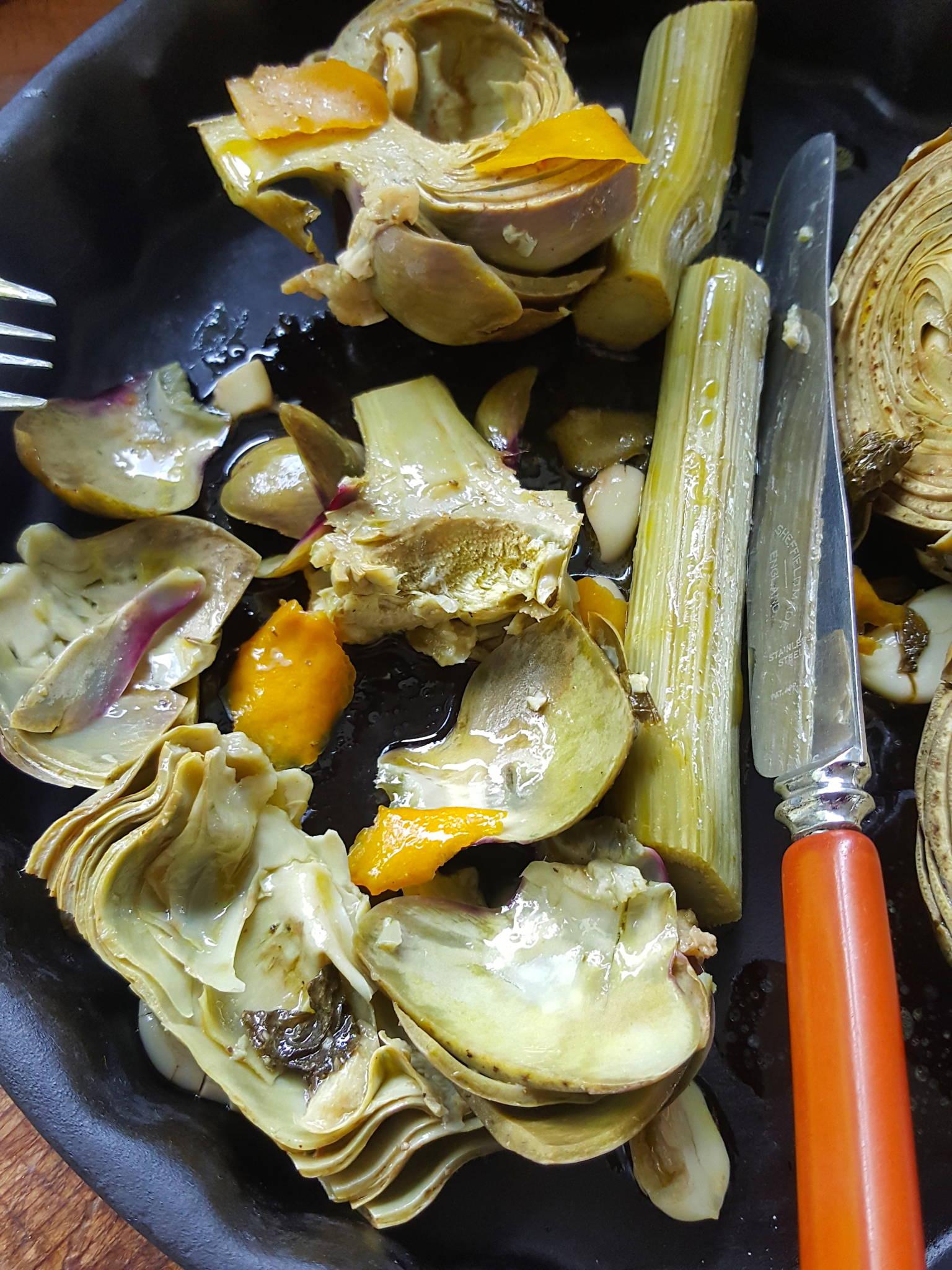 Artichokes with Garlic & Mint 1