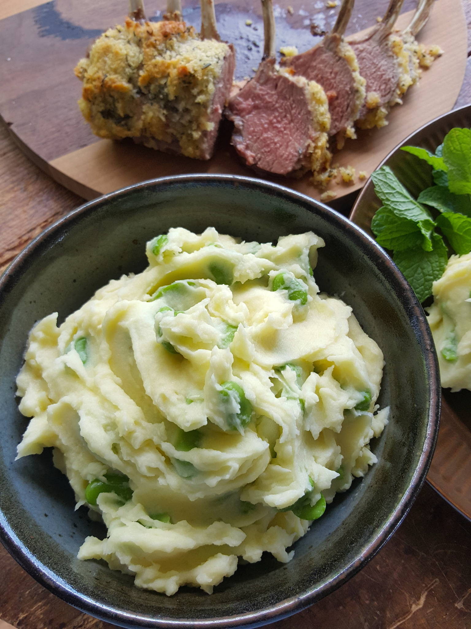 Broad bean & potato mash 3