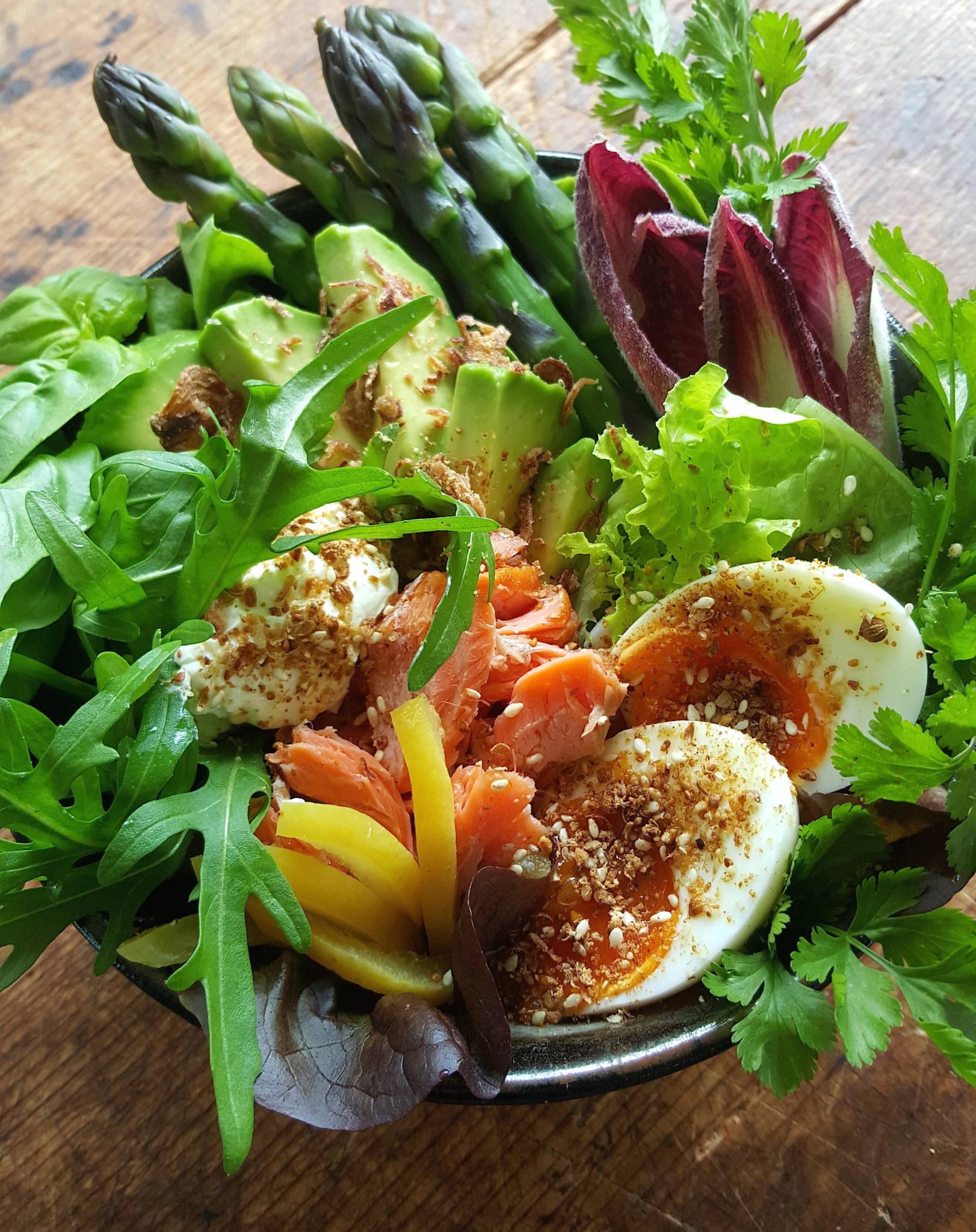 Salmon Salad Bowl 1