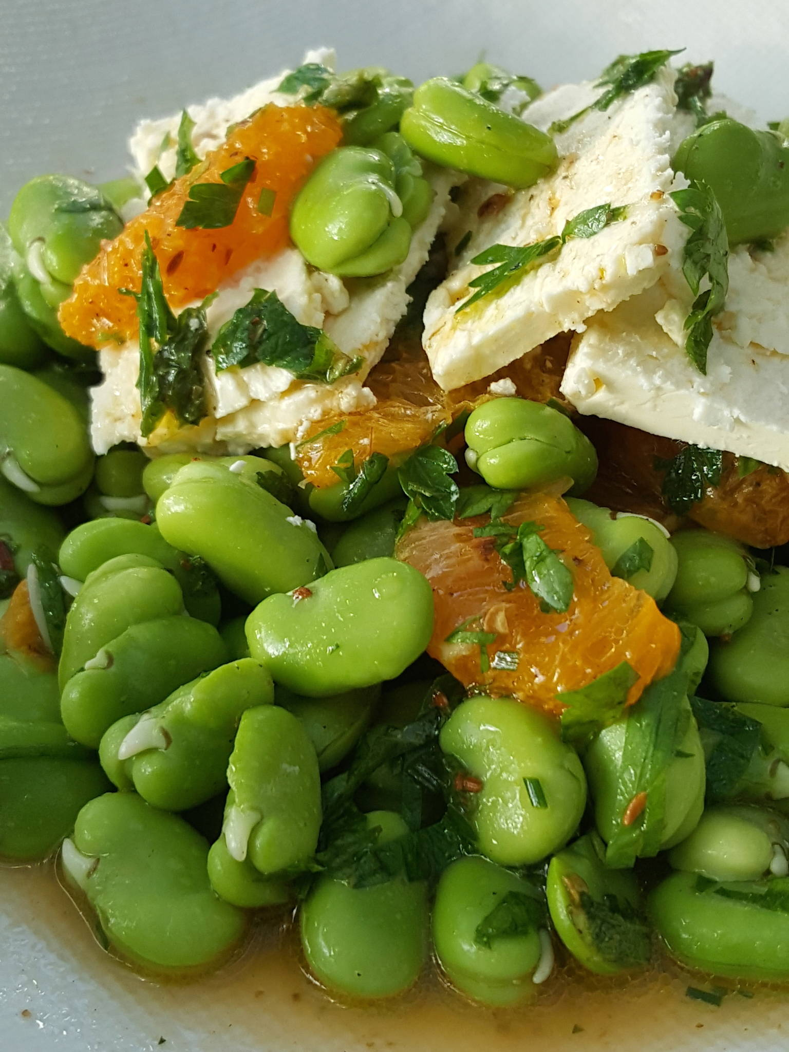 Broad bean & tangelo salad 2