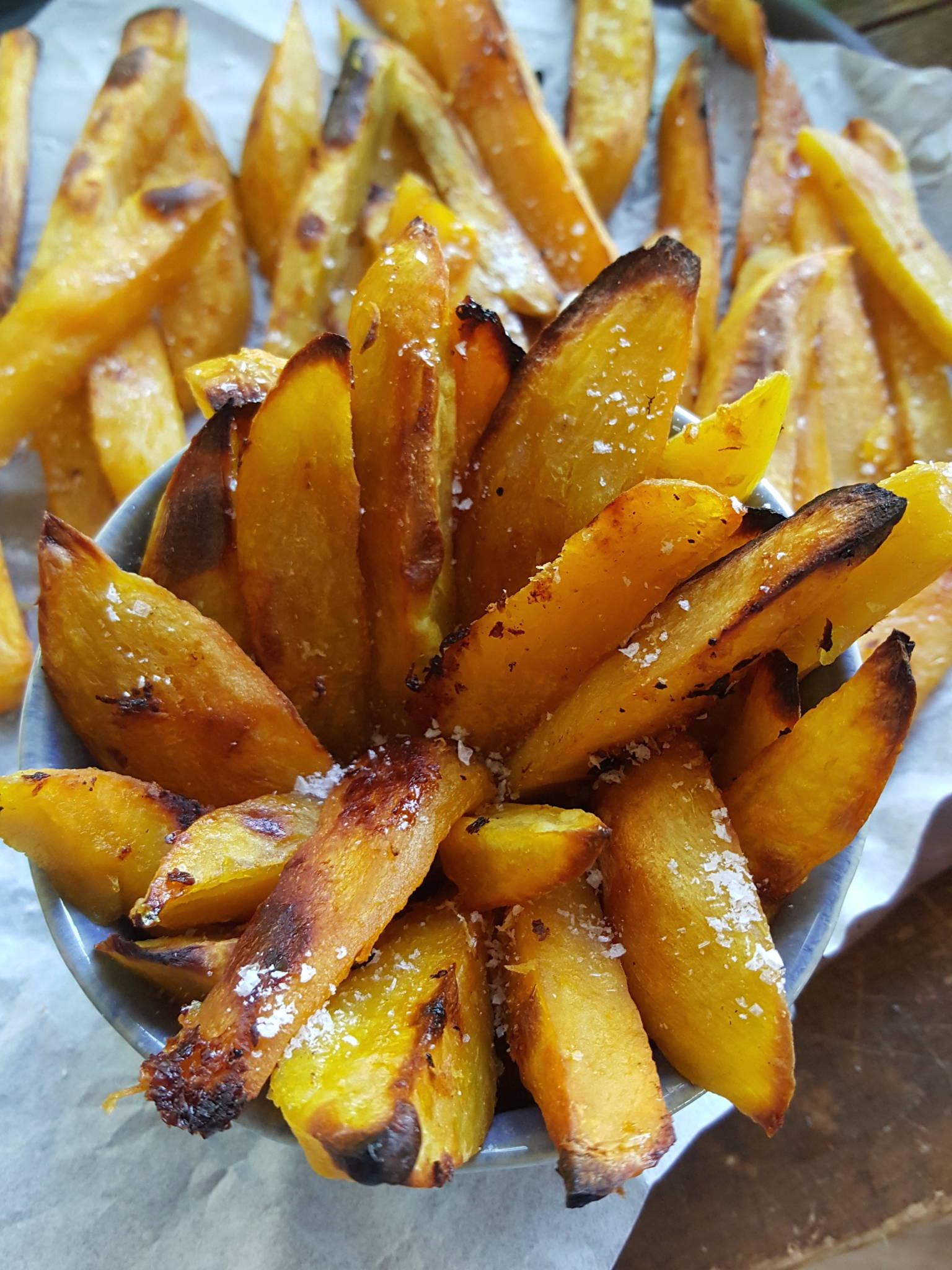Sticky Kumara Chips