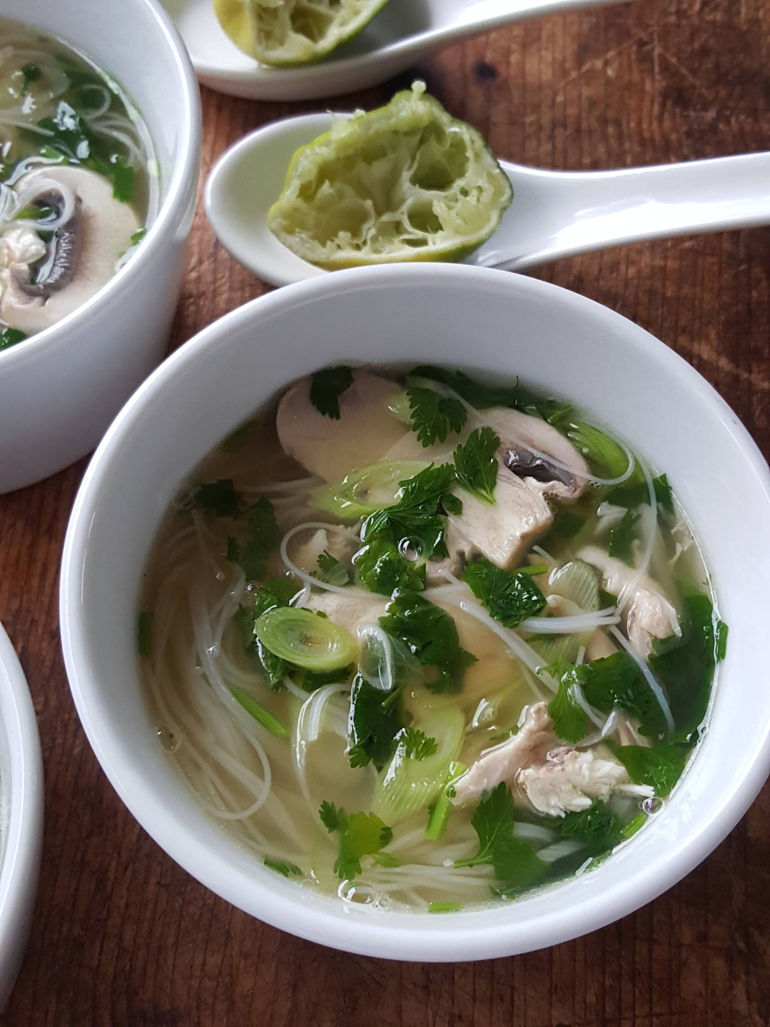Chicken Soup with Noodles & Coriander 3