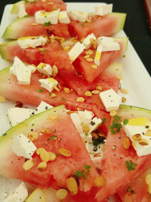 Watermelon & Feta with Lemon-infused Oil 1