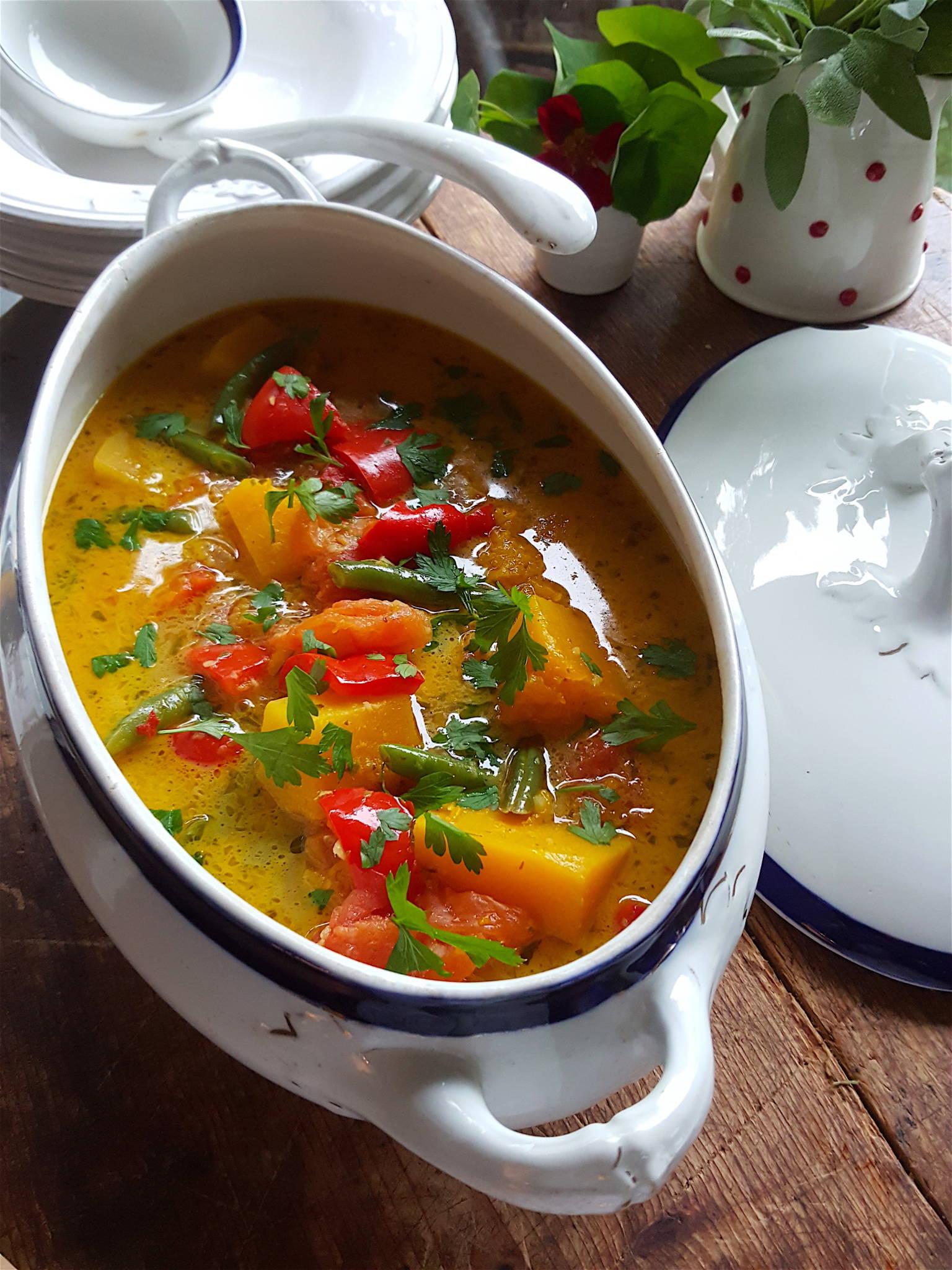 Pumpkin Red Pepper Coconut Curry